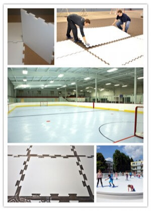 uhmwpe ice sheet hdpe synthetic ice rink / uhmwpe sheets for ice skating arena